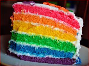 Торт радуга с многослойными начинками