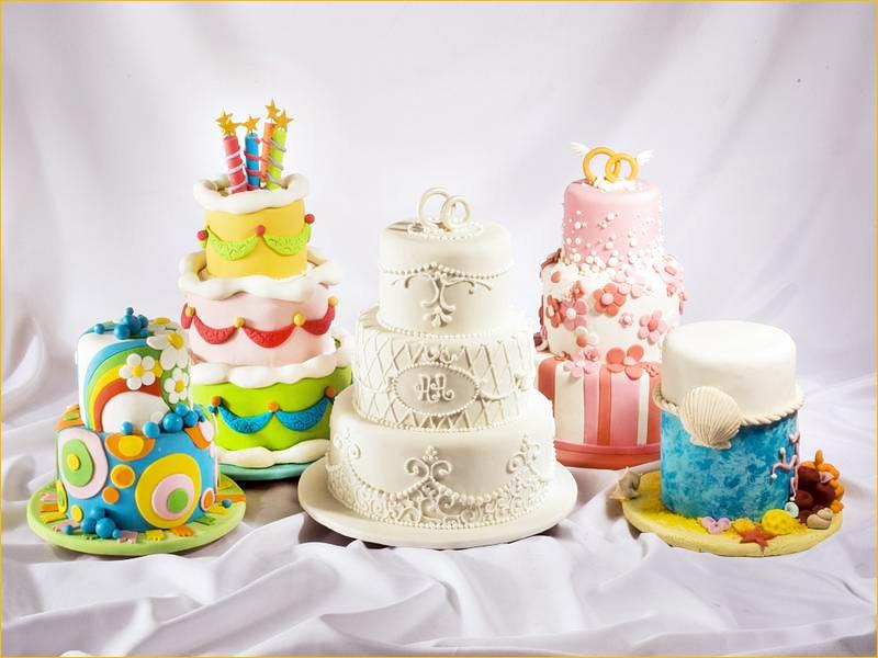 Несколько вариантов оформления торта