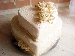 Недорогой и красивый торт на свадьбу